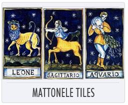 Italian Pottery Zodiac Mattonelle Tiles