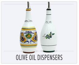 Italian Deruta Pottery - Olive Oil Dispensers