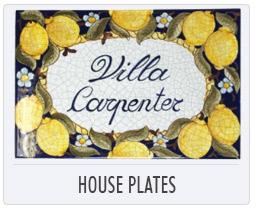 Italian Deruta Pottery - House Plates