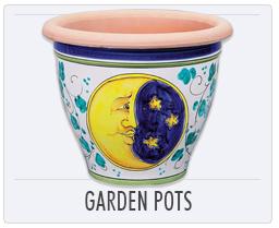 Italian Pottery Garden Pots