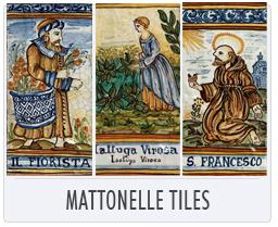 Italian Pottery Mattonelle Tiles
