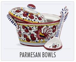 Italian Deruta Pottery Parmesan Bowls
