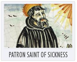 Italian Pottery Patron Saint of Sickness