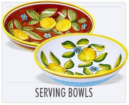 Italian Deruta Pottery Serving Bowls