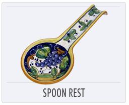 Italian Deruta Pottery Spoon Rest