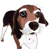 White & Brown Beagle Beauty Print