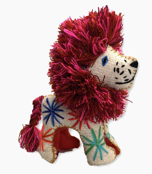Lion Upcycled Wool Animal - Mexico