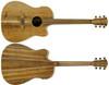 Cole Clark Fat Lady 2 FL2 EL BLBL Acoustic Electric Guitar