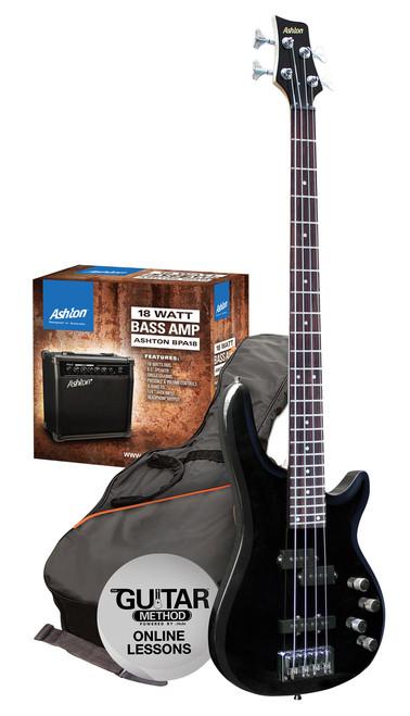 Ashton AB4 Bass Guitar Pack