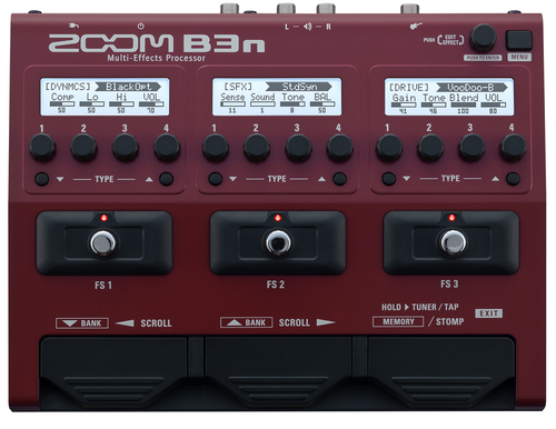 ZOOM B3n Intuitive Multi-Effects Processor for Bassists