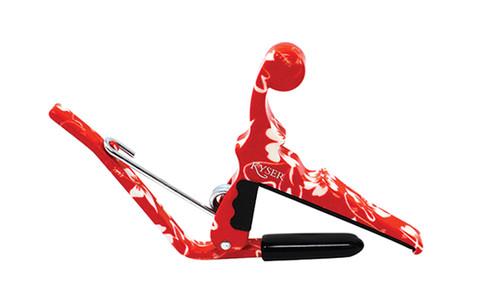 Kyser Capo Ukulele (Red Hibiscus)
