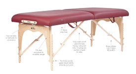 Custom Craftworks Athena Massage Table - Product Details