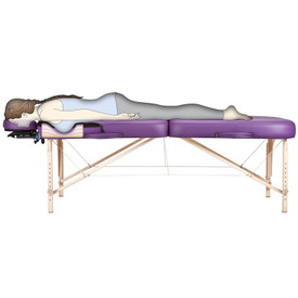 Earthlite Infinity Conforma Portable Massage Table in use