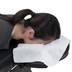 EarthLite Disposable Face Rest Covers - in use