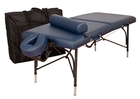 Oakworks Portable Massage Table, Aluminum Base, WELLSPRING Professional Package