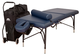 Oakworks Portable Massage Table, Aluminum Base, WELLSPRING Traveler Package