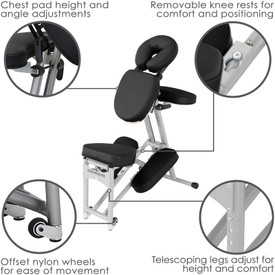 Stronglite Ergo Pro II Portable Massage Chair Package-features