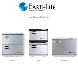 Earthlite Large Double Door UV Hot Towel Cabinet - options