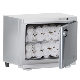 Earthlite Standard UV Hot Towel Cabinet - open