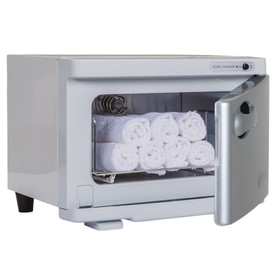Earthlite Mini UV Hot Towel Cabinet - white open