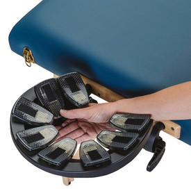 Earthlite Caress Self-Adjusting Head Rest Platform - on table
