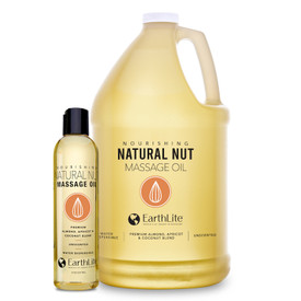 Earthlite Natural Nut Massage Oil - 8oz and gallon