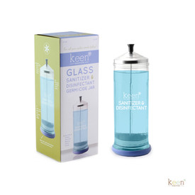 Keen Essentials Sanitizer & Disinfectant Jar, 37oz Heavy-Duty and display box