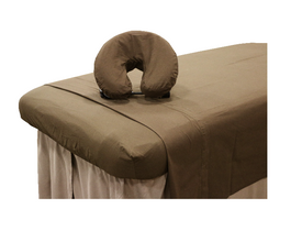 Custom Craftworks Massage Table Linens, Sheet Set, Poly-Cotton, chocolate