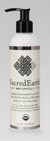 Sacred Earth Botanicals Massage Oil, Certified Organic Fractionated Coconut, 8 0z