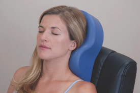 Custom Craftworks Massage Table Cervical Relief Pillow, OMNI in use