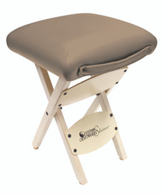 Custom Craftworks Massage Therapist Wooden Folding Stool, Otter