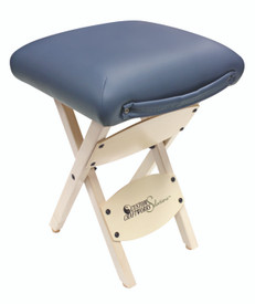 Custom Craftworks Massage Therapist Wooden Folding Stool, Agate