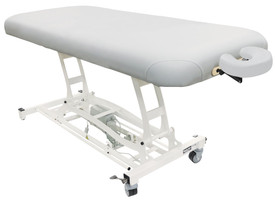 Custom Craftworks Classic Electric Massage Table, HANDS-FREE BASIC - White Tie