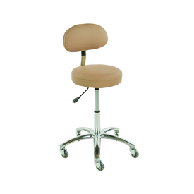 Touch America Therapist/Technician ProStool with Back, High Piston, Camel