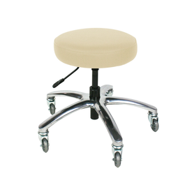 Touch America Therapist/Technician ProStool without Back, Low Piston, Almond