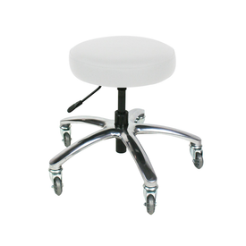 Touch America Therapist/Technician ProStool without Back, Low Piston, Pebble