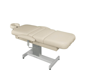 Touch America Powered Lift Spa Treatment Table, VENETIAN PowerTilt, Almond flat with accessories not included