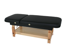 Touch America Stationary Treatment & Massage Table, FACE & BODY, Black