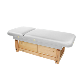 Touch America Stationary Treatment & Massage Table, FACE & BODY, White with optional cabinet