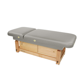 Touch America Stationary Treatment & Massage Table, FACE & BODY, Slate with optional cabinet