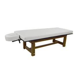 Touch America Outdoor Massage Table, SOLTERRA Teak, White