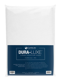 Earthlite Massage Table Sheet, Flannel, FacePillow, DURA-LUXE, White