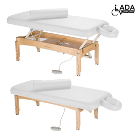 Touch America ADA Powered Lift Massage Table, OLYMPUS, White