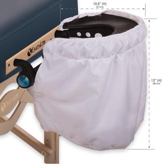 Earthlite Massage Table Headrest Pocket, Breathe‐Easy dimensions