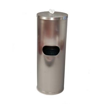 ERC Stainless Steel Wipes Dispenser, Hidden Wastebasket