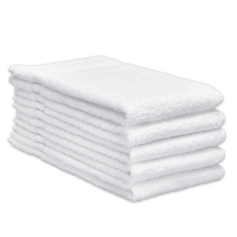 ERC Cotton Terry Towels, 16x30, Heavyweight, White