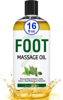 Seven Minerals Massage Oil, Foot, 16oz