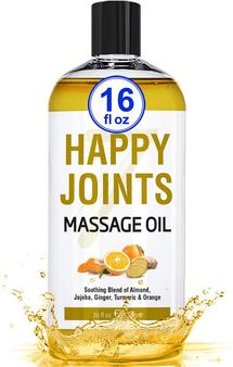 Seven Minerals Massage Oil, Happy Joints, 16oz