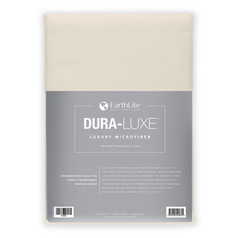Earthlite Massage Table Sheet, Microfiber, Fitted, DURA-LUXE, Cream