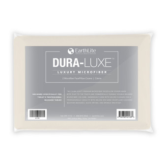 Earthlite Massage Table FacePillow Cover, Microfiber, DURA-LUXE, 2 Pack, Cream